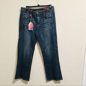 NWT Seven7 Distressed Jeans Sz 18